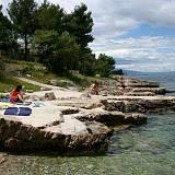 Apartmány Vantačići 5439, Vantačići - Nejbližší pláž