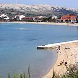 Ferienwohnungen und Zimmer Pag 6974, Pag - Nächster Strand