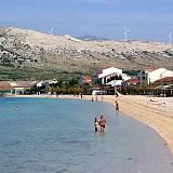 Ferienwohnungen und Zimmer Pag 16149, Pag - Nächster Strand