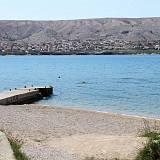 Ferienwohnungen und Zimmer Pag 16190, Pag - Nächster Strand